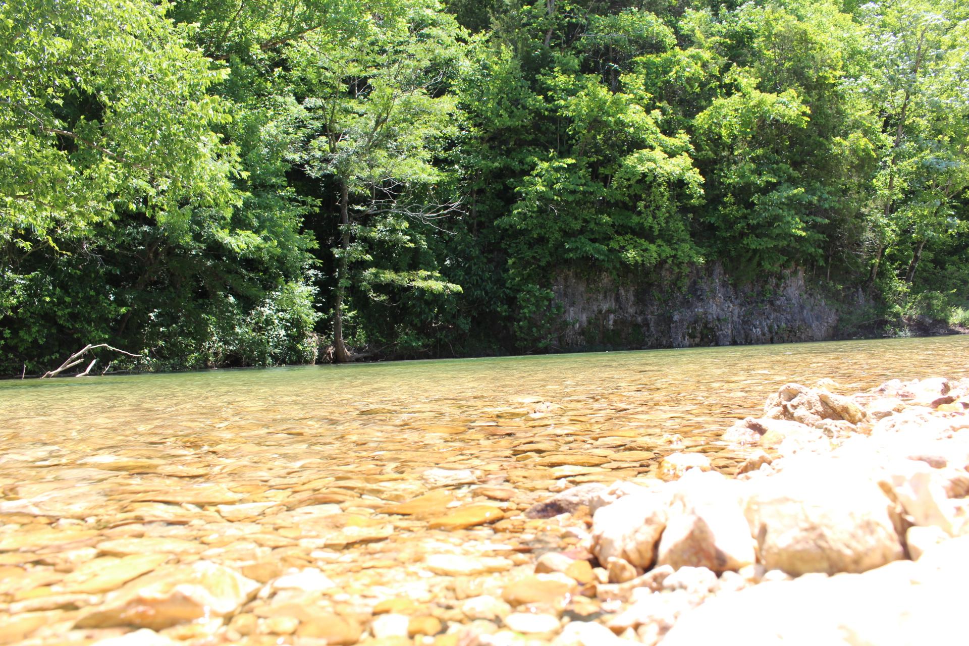 Clear water-rocks-bluff