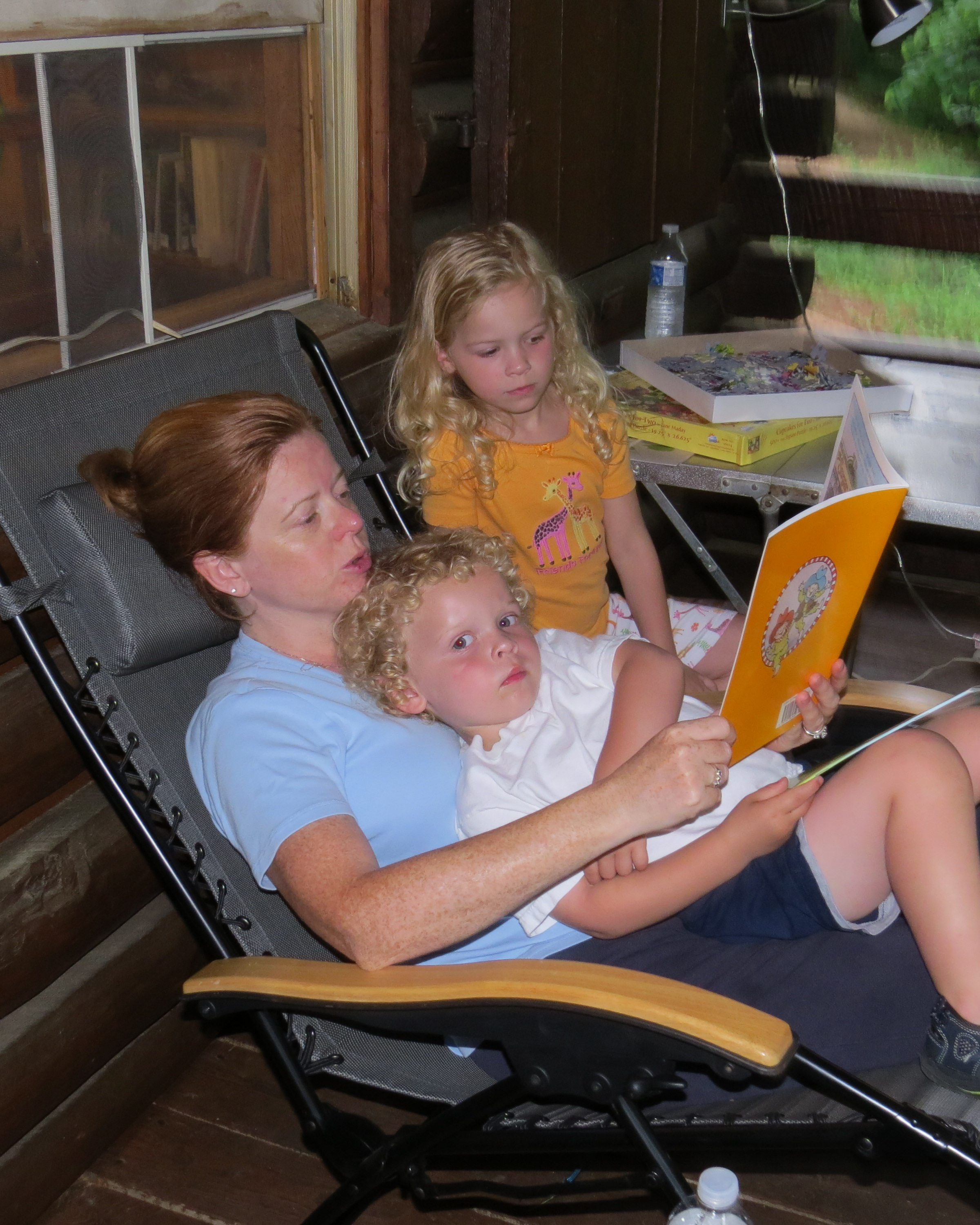 Laurie reading to Nick-Alli