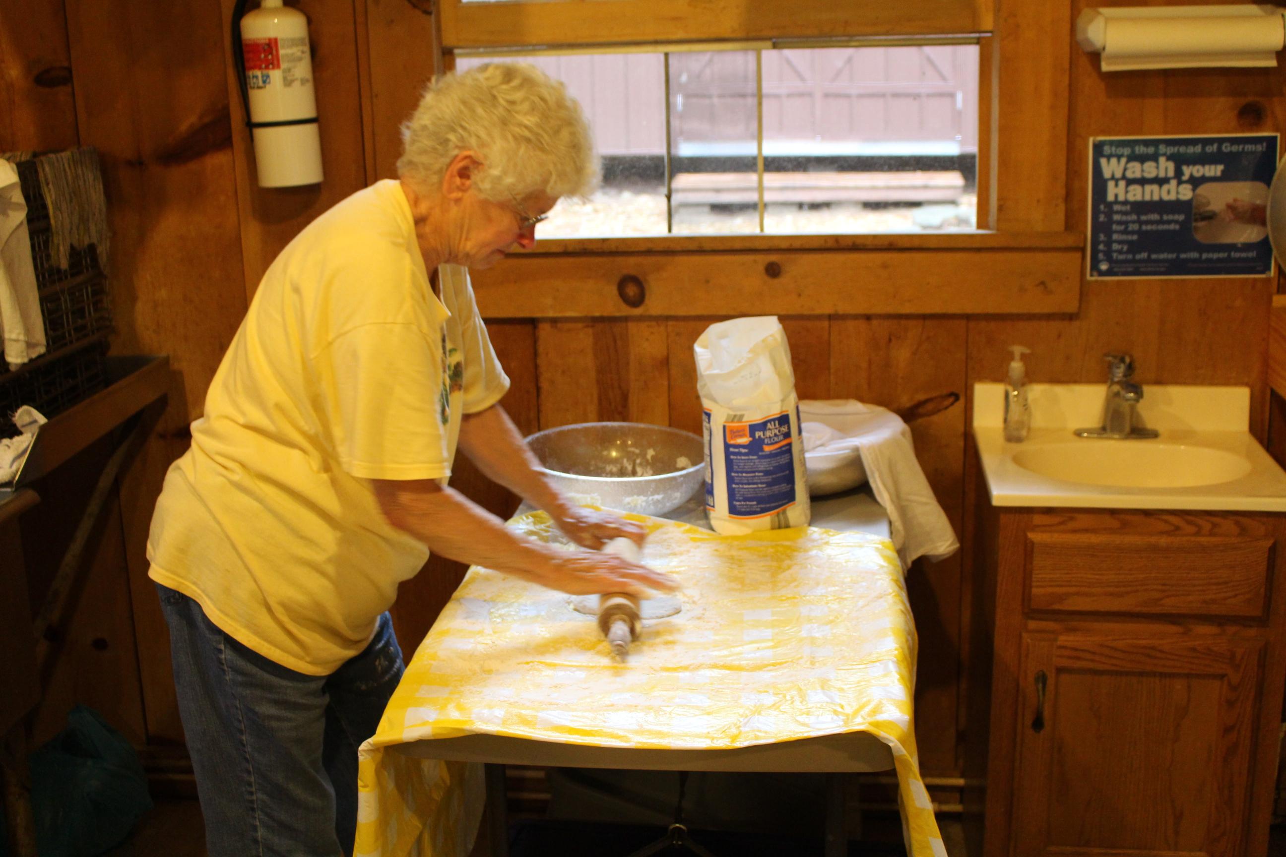 Mom-rolling dough