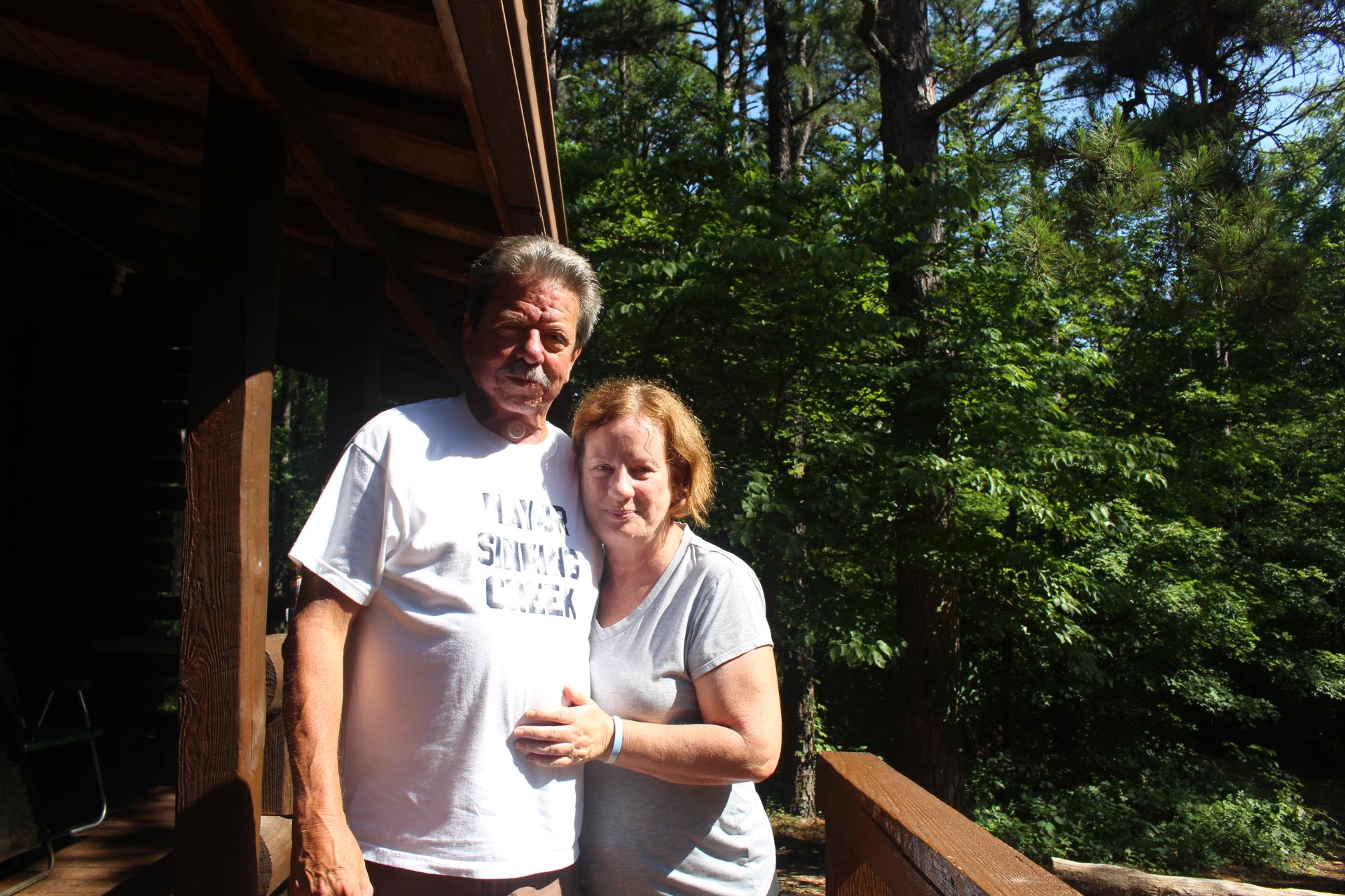 Ted-Cheryl together lodge steps
